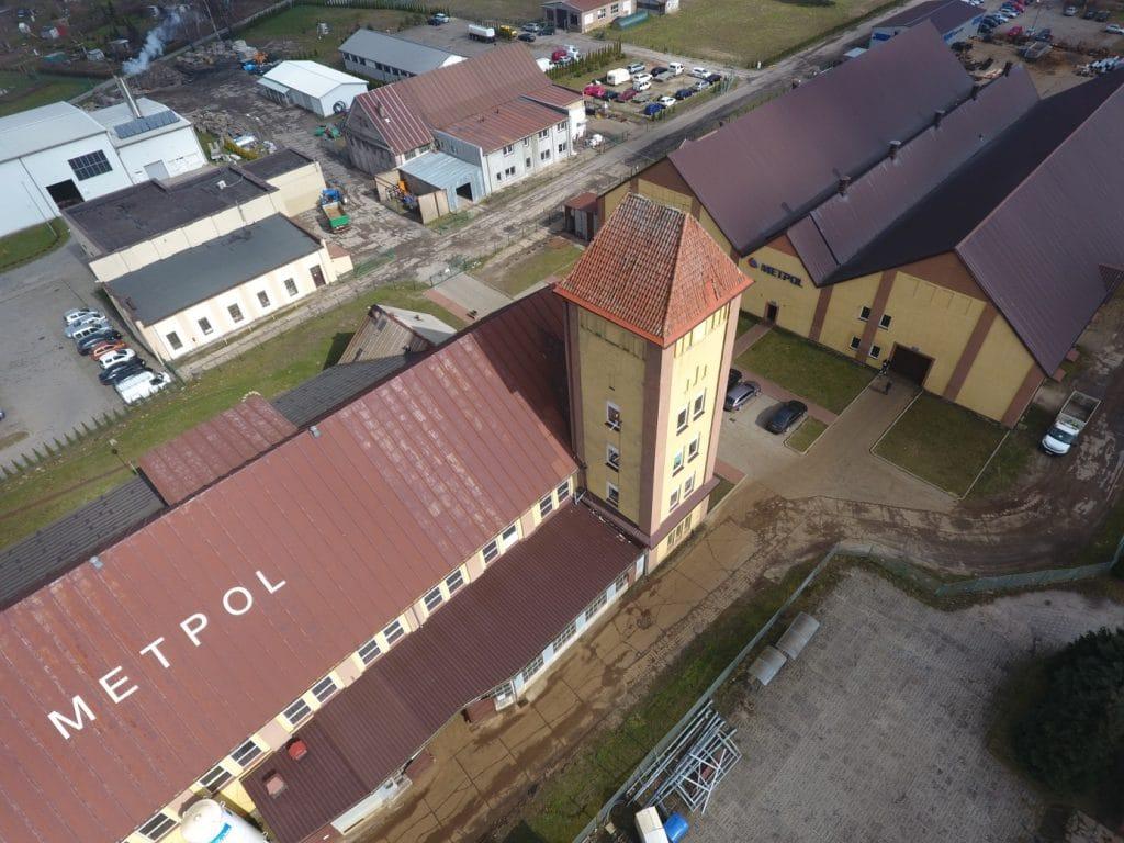 Metpol w Jezierzycach - zdjęcia z drona